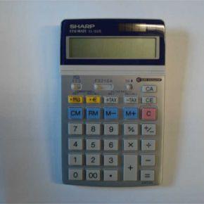 Skaičiuotuvas Sharp EL-337, 12 skaičių