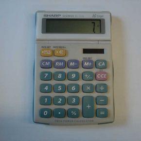 Skaičiuotuvas Sharp EL-331E, 10 skaičių