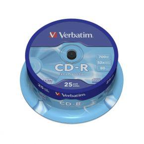 Diskai Verbatim CD-R 80/700MB 52X 25pack EXTRA PROTECTION cake box - 43432