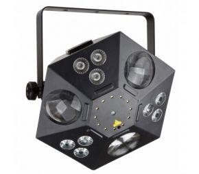 Šviesos efektas ALIEN 9x RGBUV 8W + 84x 0.75W + 12x 0.5W strobo + lazeris RŽ