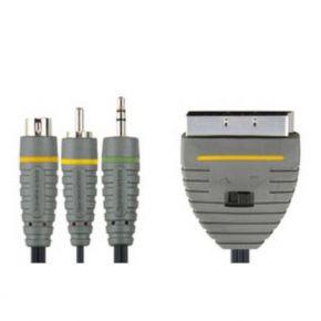 Kabelis Bandridge SCART - S-Video + RCA + 3,5mm - 2m - BVL6802