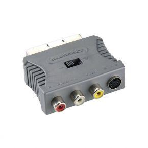 Adapteris Bandridge SCART M - S-Video + 3xRCA