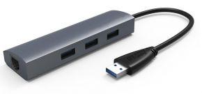 USB 3.0 to 3-Port USB3.0 HUB with Gigabi