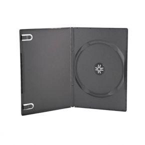 Tuščia DVD diskų dėžutė juoda 9 mm