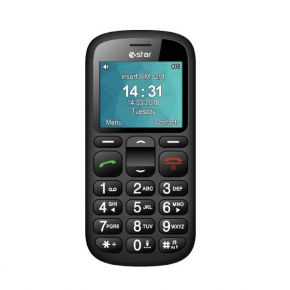 Mobilusis telefonas eSTAR S22 Senior Single SIM Black
