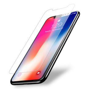 Apsauginis grūdintas stiklas Apple iPhone X (3D, pilnai lipnus, skaidrus)