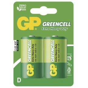 Elementai GP Greencell R20 (D) 2vnt blister