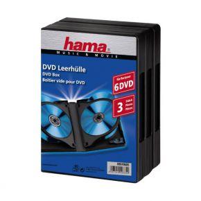 Tuščios DVd diskų dėžutės Hama dvigubos, 3 vnt.