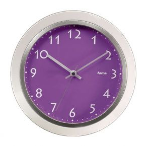 Sieninis laikrodis Hama PP-265 quartz wall clock, purple
