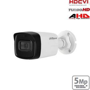 "HD-CVI cilindrinė kam. 5MP su LXIR pašvietimu iki 80m., 1/2.7"" 2.8mm 98°, IP67, su mikrofonu"