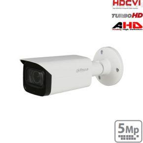"""HD-CVI cilindrinė kam. STARLIGHT 5MP, LXIR pašvietimas iki 80m.,1/2.8"""" 3.6mm 79°, IP67, su mikrofonu"""
