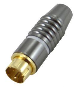 Kištukas DIN mini 4p HQ /auksinis/