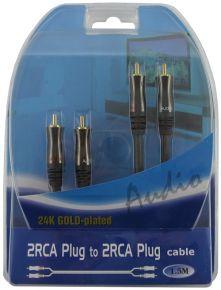 Laidas 2RCA-2RCA (6+2+6) 1.5m /XL/