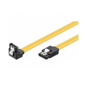 SATA kampinis kabelis 0.7m su fiksatoriais 6GB/s 95022