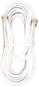 Laidinio telefono kabelis 10 m. baltas