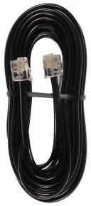 Laidinio telefono kabelis 15m. juodas