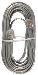 Laidinio telefono kabelis 15m. pilkas