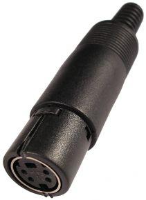 Lizdas DIN mini 4p /kabeliui/