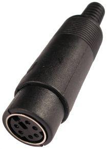 Lizdas DIN mini 6p /kabeliui/