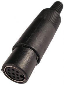 Lizdas DIN mini 8p /kabeliui/