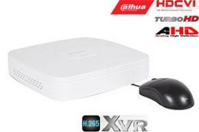 Pentabrid  įrašymo įrenginys 4kam. HDCVI/AHD/TVI/CVBS/IP 2MP 15fps (non-realtime), H.265+,1HDD