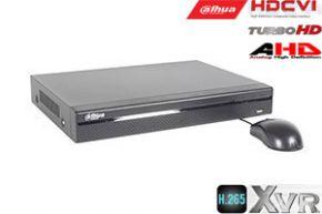 Pentabrid  įrašymo įrenginys 8kam. HDCVI/AHD/TVI/CVBS/IP 2MP 15fps (non-realtime), H.265+,1HDD