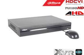 Pentabrid  įrašymo įrenginys 16kam. HDCVI/AHD/TVI/CVBS/IP 2MP 15fps (non-realtime), H.265+,1HDD