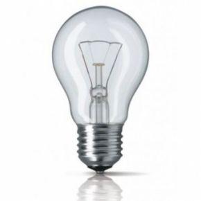 Kaitrinė lemputė E27 75W, skaidri, pramoniniam naudojimui
