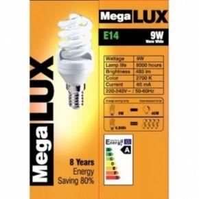 Kompaktinė liuminescencinė lempa E14 9W (45W)